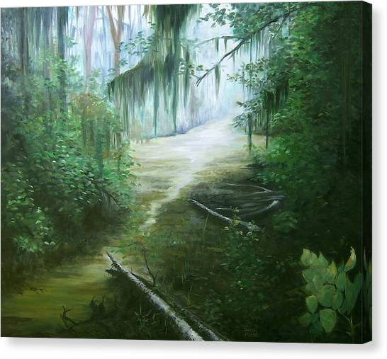 New Orleans Swamp Canvas Print by Susan Moore
