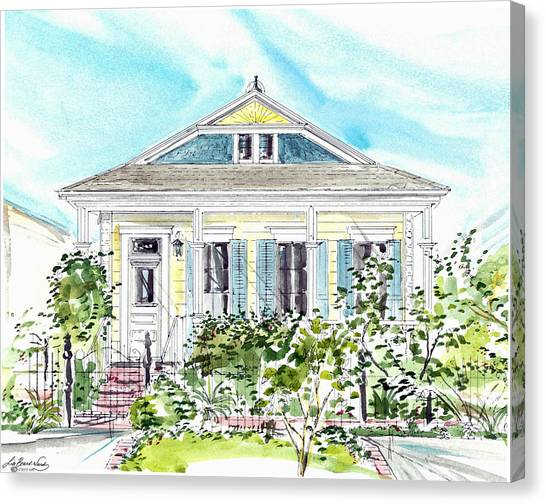 New Orleans Victorian Canvas Print