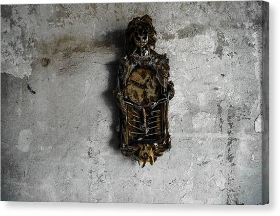 New Orleans Voodoo Bone Clock Canvas Print