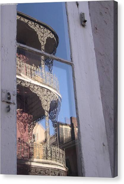 New Orleans Window Canvas Print