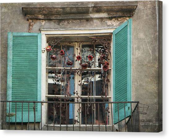 New Orleans Window Canvas Print