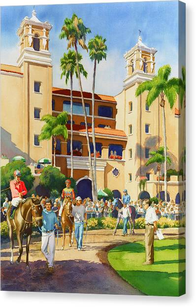 New Paddock At Del Mar Canvas Print