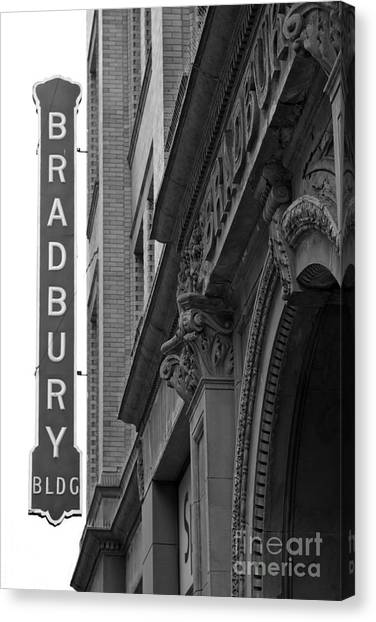 Bladerunner Canvas Print - New Photographic Art Print For Sale Bradbury Building 10 Downtown La by Toula Mavridou-Messer