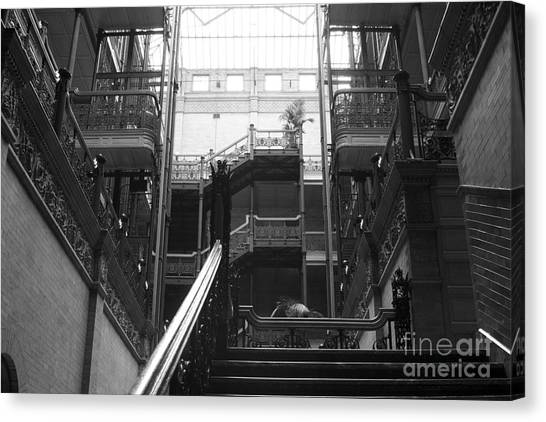 Bladerunner Canvas Print - New Photographic Art Print For Sale Bradbury Building 13 Downtown La by Toula Mavridou-Messer