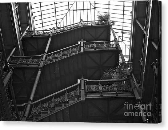 Bladerunner Canvas Print - New Photographic Art Print For Sale Bradbury Building 2 Downtown La by Toula Mavridou-Messer