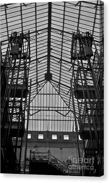 Bladerunner Canvas Print - New Photographic Art Print For Sale Bradbury Building 3 Downtown La by Toula Mavridou-Messer