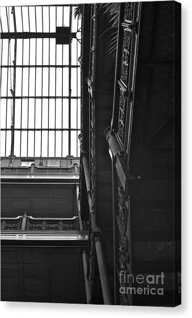 Bladerunner Canvas Print - New Photographic Art Print For Sale Bradbury Building 4 Downtown La by Toula Mavridou-Messer