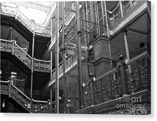 Bladerunner Canvas Print - New Photographic Art Print For Sale Bradbury Building 7 Downtown La by Toula Mavridou-Messer
