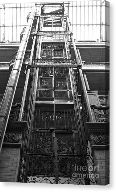 Bladerunner Canvas Print - New Photographic Art Print For Sale Bradbury Building 8 Downtown La by Toula Mavridou-Messer
