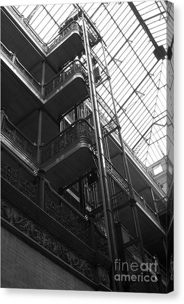 Bladerunner Canvas Print - New Photographic Art Print For Sale Bradbury Building 9 Downtown La by Toula Mavridou-Messer