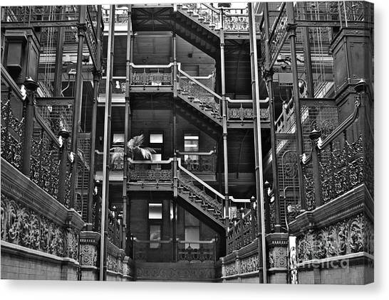 Bladerunner Canvas Print - New Photographic Art Print For Sale Bradbury Building Downtown La by Toula Mavridou-Messer