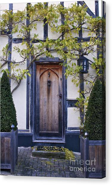 New Photographic Art Print For Sale Doorway 2 In Medieval Lavenham Canvas Print