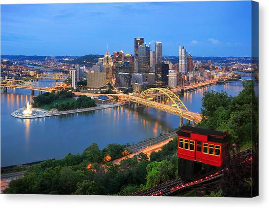 Pittsburgh Pirates Canvas Print -  Pittsburgh Summer  by Emmanuel Panagiotakis