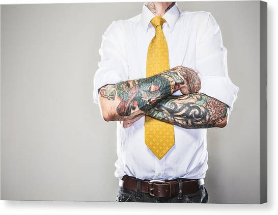 New Professional With Tattoos Canvas Print by RyanJLane