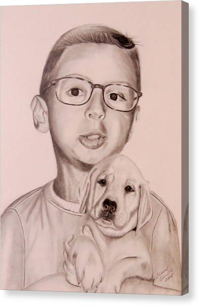 New Puppy Canvas Print