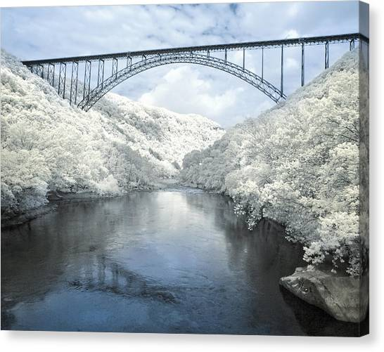 New River Gorge Bridge In Infrared Canvas Print