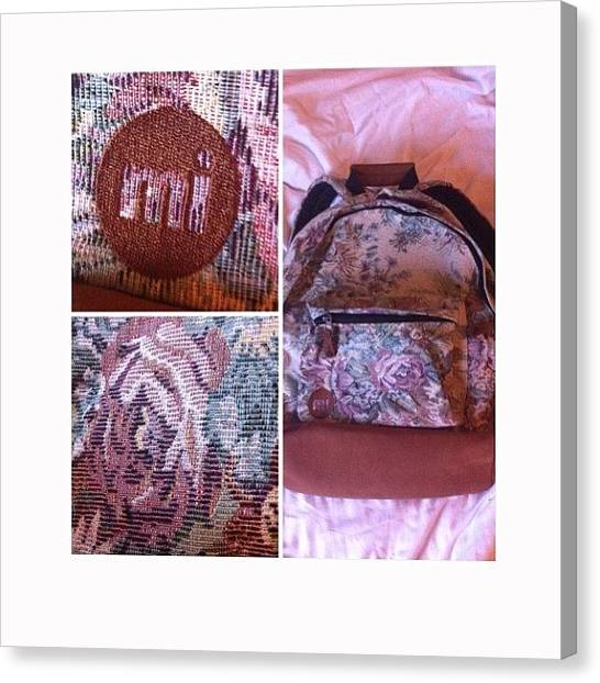 Backpacks Canvas Print - New School Bag Not Sure If I Like It by Katie Tyler