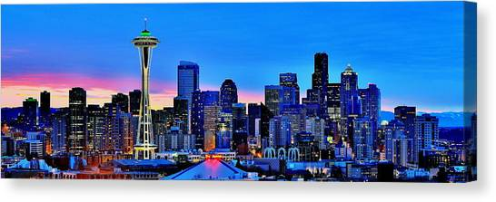 Seattle Skyline Canvas Print - New Seattle Day by Benjamin Yeager