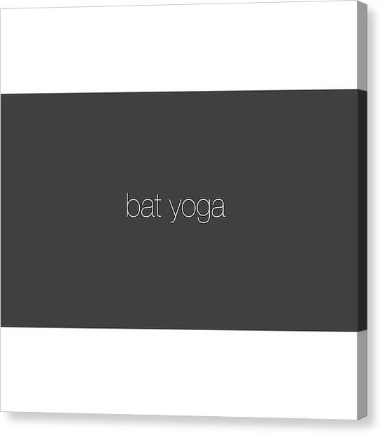 Bat Canvas Print - #new #short On This Warm #tuesday by Mychal Clements