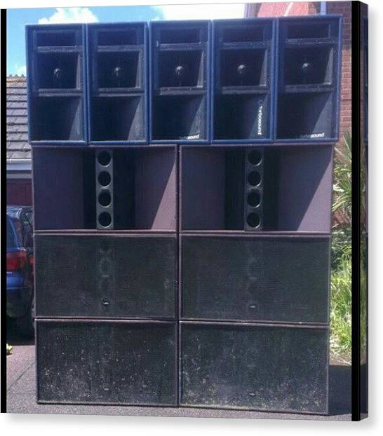 Peaches Canvas Print - New Speakers Are Here! #inferiorsounds by Marcus Peach