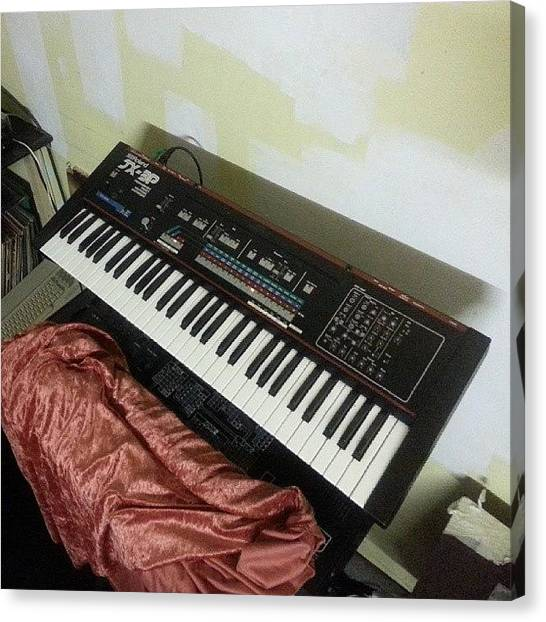 Synthesizers Canvas Print - New Synth In The Studio >> #roland by Kaare Hansen