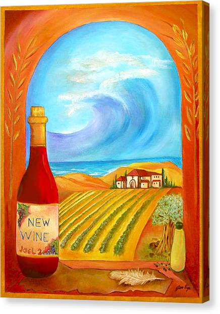 New Wine  Joel 2 Canvas Print
