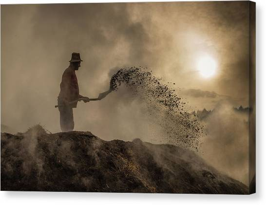 Shovels Canvas Print - New World Creation by Adrian Popan