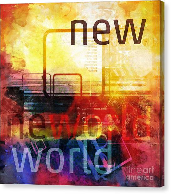 New World Canvas Print by Lutz Baar