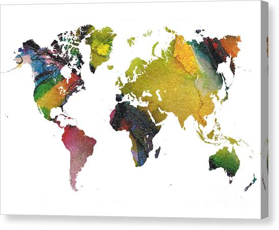 Word map canvas prints page 12 of 15 fine art america word map canvas print new world map by justyna jbjart publicscrutiny Choice Image