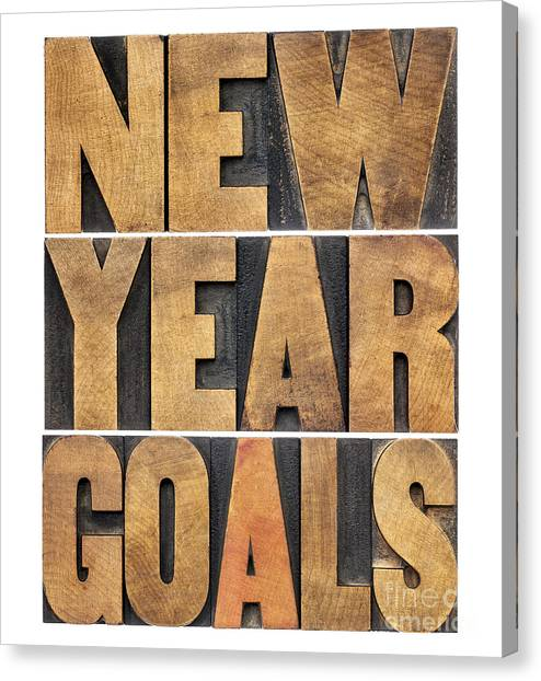 New Year Goals Canvas Print