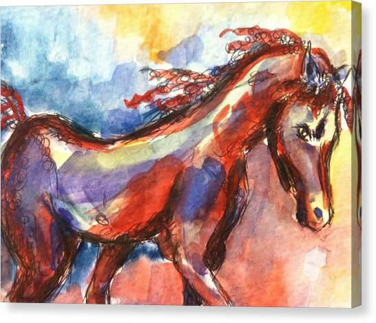 New Year Horse Canvas Print