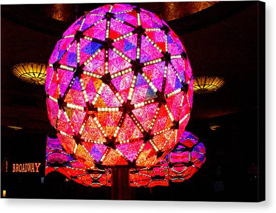 Midnite Canvas Print - New Year's Ball by Pablo Rosales