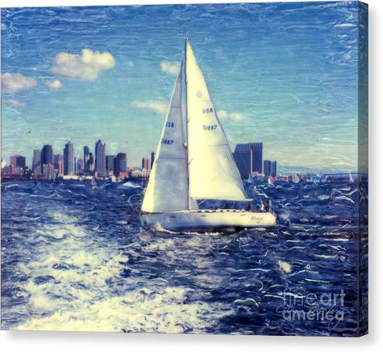 New Years Day Sailing Canvas Print