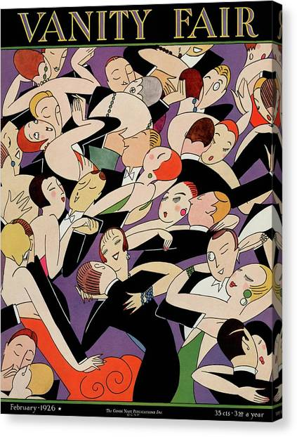 New Years Revelers Canvas Print by A H Fish