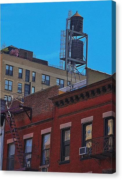 Precisionism Canvas Print - New York 100 by Steven Richman
