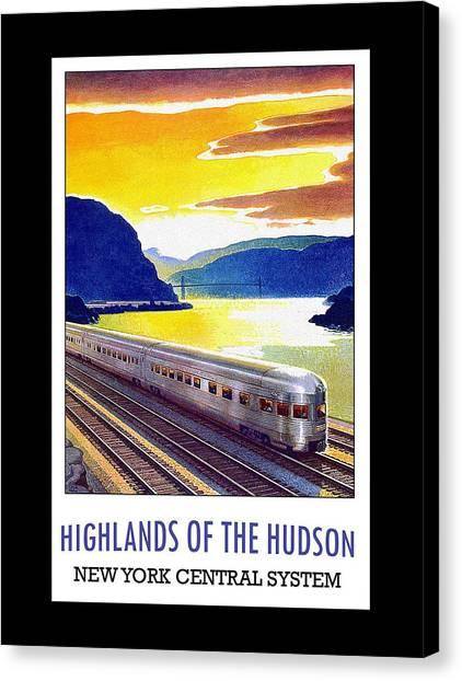 New York Central Vintage Poster Canvas Print