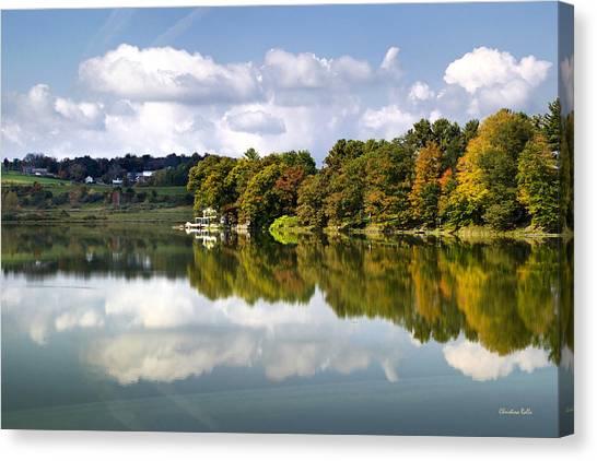 Canvas Print featuring the photograph New York Cincinnatus Lake by Christina Rollo