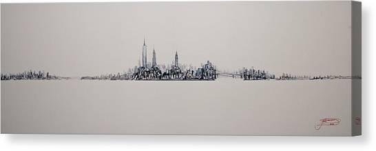 New York City 2013 Skyline 20x60 Canvas Print