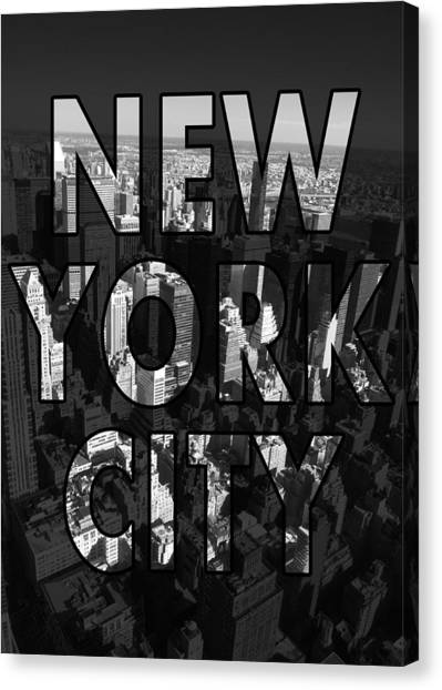 Offices Canvas Print - New York City - Black by Nicklas Gustafsson