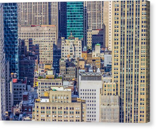 New York City Buildings Abstract Canvas Print