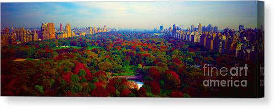 New York City Central Park South Canvas Print