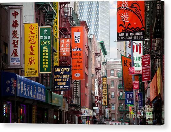 Chinatown Canvas Print - New York City Chinatown by Inge Johnsson