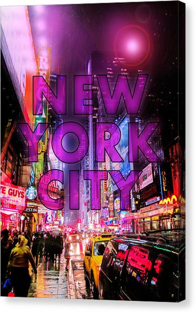 Broadway Canvas Print - New York City - Color by Nicklas Gustafsson