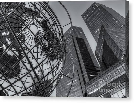 New York City Columbus Circle Landmarks II Canvas Print