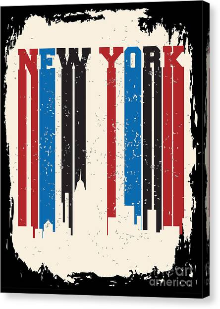 Type Canvas Print - New York City Concept. Logo. Label by Lemanruss