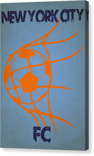 New York City Fc Canvas Print - New York City Fc Goal by Joe Hamilton