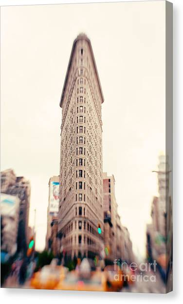 Central Park Canvas Print - New York City Flatiron Building by Kim Fearheiley