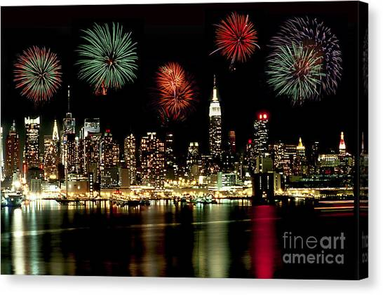 New York City Fourth Of July Canvas Print