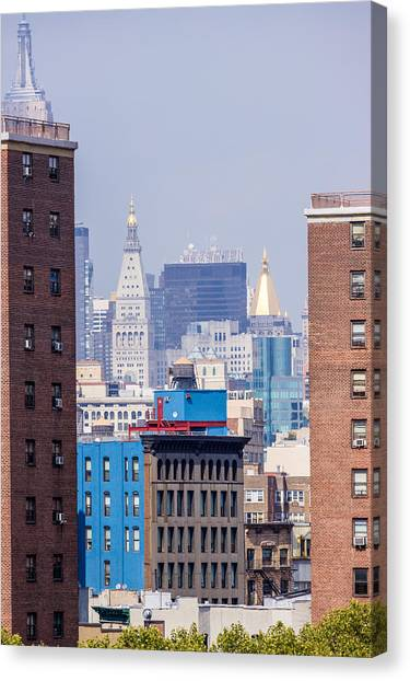 New York City From Brooklyn Bridge Canvas Print