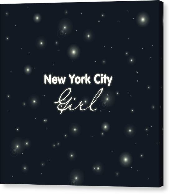 Black And White Canvas Print - New York City Girl by Pati Photography